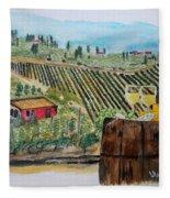 Wine And Cheese Fleece Blanket