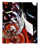 Wine And Dine 1 Fleece Blanket