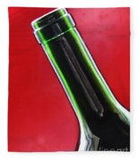 Wine Bottles 8 Fleece Blanket