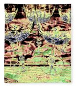 Wine Glasses Fleece Blanket