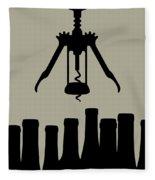 Wine Graphic Silhouette Fleece Blanket