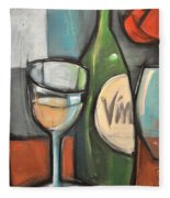Wine Is Bottled Poetry Fleece Blanket