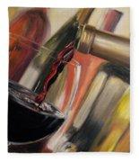 Wine Pour II Fleece Blanket