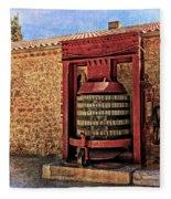 Wine Press Near Narbonne France Dsc01630 Fleece Blanket