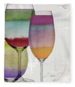 Wine Prism Fleece Blanket
