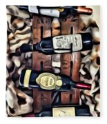 Wine Rack Fleece Blanket