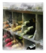 Wine Rack Mixed Media 01 Fleece Blanket