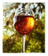 Wine Reflections Square Fleece Blanket