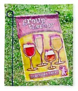 Wine Sign Fleece Blanket