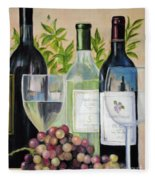 Wine Time Fleece Blanket