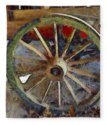 Wine Wagon Wheel Fleece Blanket