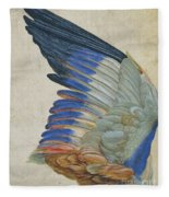 Wing Of A Blue Roller Fleece Blanket