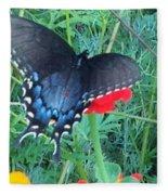 Wing Spread Butterfly Fleece Blanket