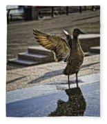 Winged Bird Fleece Blanket