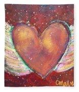 Winged Heart Number 2 Fleece Blanket