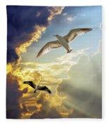 Wings Against The Storm Fleece Blanket
