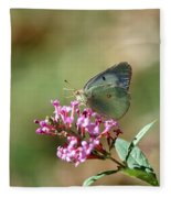Wings And Petals Fleece Blanket