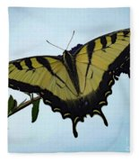 Wings Are Perfect Match - Eastern Tiger Swallowtail Fleece Blanket