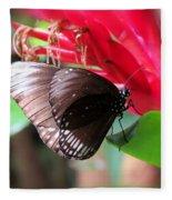 Wings Of Brown - Butterfly Fleece Blanket