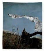 Wings Of Winter Fleece Blanket
