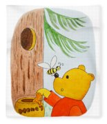 Winnie The Pooh And His Lunch Fleece Blanket