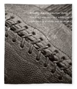 Winning Quote From Vince Lombardi Fleece Blanket
