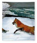 Winslow Homer's, 1893 ' The Fox Hunt ', Revisited 2016 Fleece Blanket