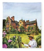 Winston Churchill Painting At Chartwell Fleece Blanket
