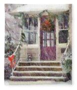 Winter - Christmas - Silent Day  Fleece Blanket
