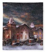 Winter - Clinton Nj - Silent Night  Fleece Blanket