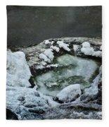 Winter Abstract Fleece Blanket
