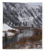 Winter Along The Salt Fleece Blanket