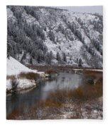 Winter Along The Salt Fleece Blanket