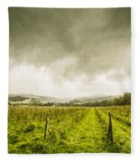 Winter Apple Orchard Fleece Blanket