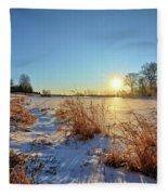 Winter At Mayne's Fleece Blanket