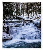 Mill Creek Falls Wv Fleece Blanket