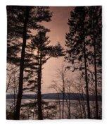 Winter At Nepaug Fleece Blanket