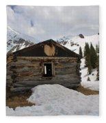 Winter At The Boston Mine 4 Fleece Blanket