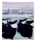 Winter At The Convent Fleece Blanket