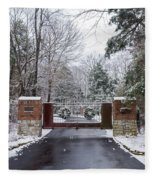 Winter At The Gate Fleece Blanket
