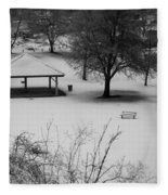 Winter At The Park Fleece Blanket
