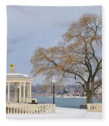 Winter At The Waterworks Fleece Blanket