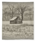 Winter At Valley Forge Fleece Blanket