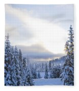 Winter Atmosphere Fleece Blanket