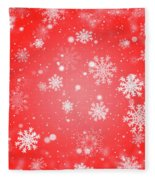 Winter Background With Snowflakes. Fleece Blanket