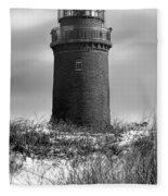 Winter Baltic Sea Lighthouse Fleece Blanket