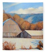 Winter Barns Fleece Blanket
