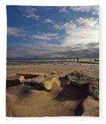 Winter Beach Fleece Blanket