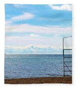 Winter Beach Fleece Blanket