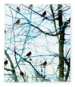 Winter Birds 2 Fleece Blanket